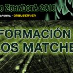 Información de los matches (Torneo ZD Dom 19)