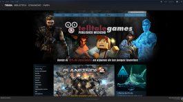 Tienda de Steam, donde podrás acceder a multiples juegos