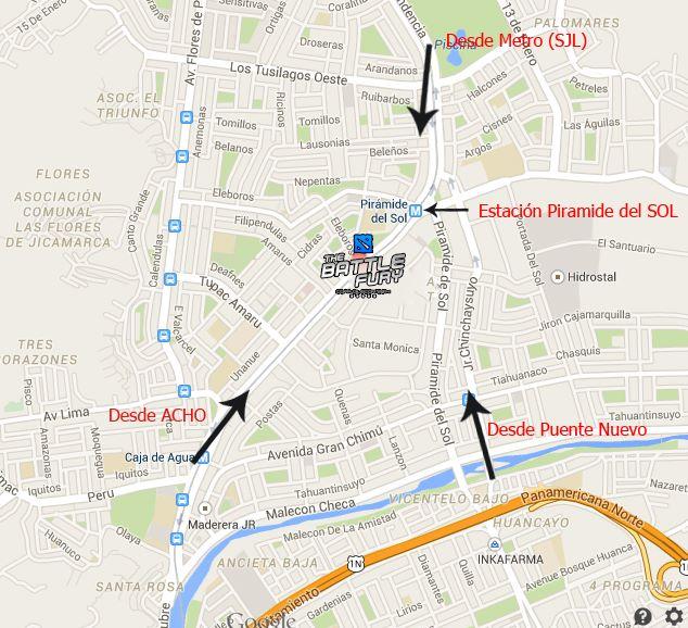 (clic para agrandar) Av. Proceres de la Independencia #700. San Juan De Lurigancho