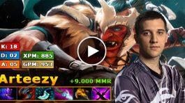 Arteezy jugando con Troll Warlord