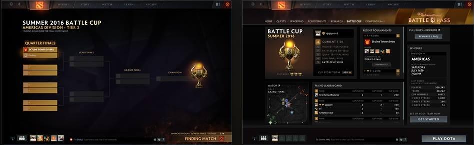 Interfaz de la BattleCup