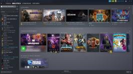 Biblioteca de Steam: Aquí podrás descargas y seleccionar tus juegos