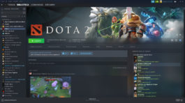 Descarga Dota 2 vía Steam